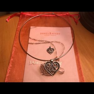 James Avery Collar Necklace & French Heart